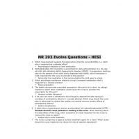 NR 293 HESI Evolve Questions